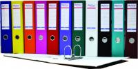 Biblioraft A4, plastifiat PP/paper, margine metalica, 50 mm, Optima Basic - gri