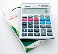 Calculator birou, 12 Digits, CANON LS 123TC, 100 x 130 x 25 mm