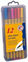 Fine Liner 0.4 mm, 12 culori/set, MOLIN