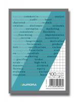 Blocnotes capsat, A6, 100 file - 60g/mp, microperforatii, AURORA Office - matematica