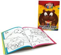 Carte colorat, A5, 24 file, 100g/mp, coperti carton, PUKKA Benjamin Bear