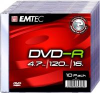 DVD-R 4.7GB  Slimcase, 16x, EMTEC