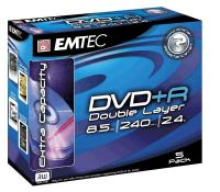 DVD+R 8.5GB Double layer  8x, Jewelcase, EMTEC