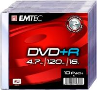 DVD+R 4.7GB  Slimcase, 16x, EMTEC