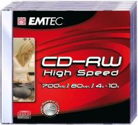 CD-RW 700MB-80min  Jewelcase, 4-10x, EMTEC