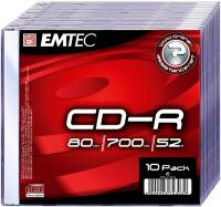 CD-R 700MB-80min  Slimcase, 52x, EMTEC