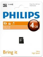 Card memorie Micro SD, clasa 10, PHILIPS -  4GB