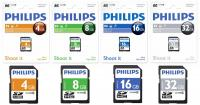 Card memorie SDHC, clasa 10, PHILIPS -  4GB