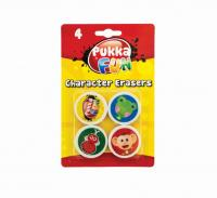 Set radiere forma animale, 4 buc/set, PUKKA Fun