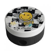 Ascutitoare plastic butoias motiv Smiley World Rock/blister