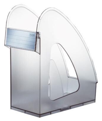 Suport Vertical Plastic Pentru Cataloage Han Galaxy - Transparent Gri