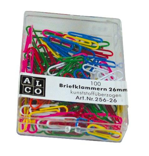 Agrafe Colorate 26 Mm  100/cutie  Alco - Asortate