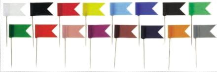 Stegulete Colorate  20/cutie  Alco - Alb