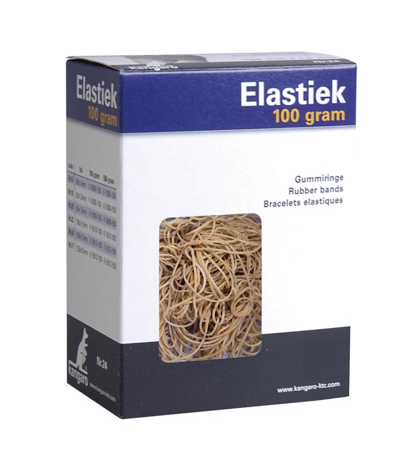 Elastice Pentru Bani  100g/cutie  D 90 X 1 5mm  Kangaro