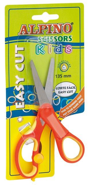 Foarfeca Copiii  13.5 Cm  Cu Spatiu Personalizare Nume  In Blister  Alpino Kids