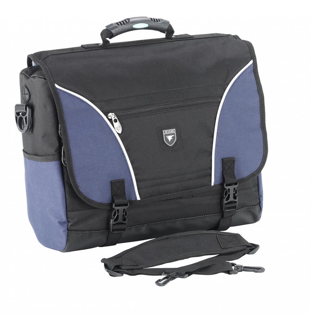Geanta Laptop 17  Polyester  Falcon Courier - Negru