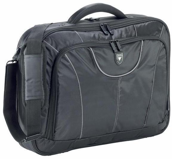 Geanta Laptop 17 (45x33x12cm)  Polyester Durafibre  Falcon - Negru/gri