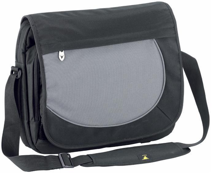 Geanta Laptop 15.6 (48x32x9cm)  Polyester Duratuff 600  Falcon Messenger - Neagra/gri