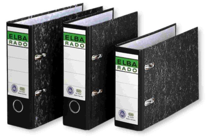 Biblioraft A5 Landscape  Margine Metalica  80mm  Elba Rado - Marmorat