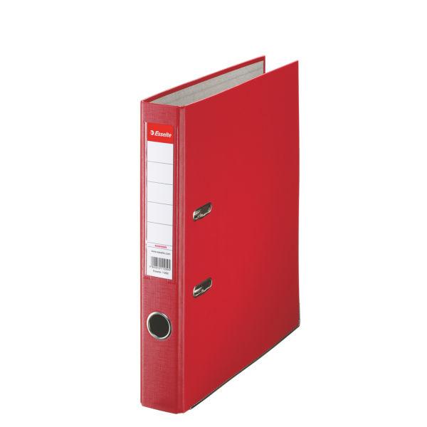 Biblioraft A4  Plastifiat Pp  Margine Metalica  50 Mm  Esselte Economy - Rosu