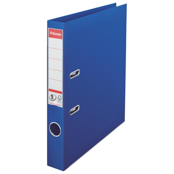 Biblioraft A4  Plastifiat Pp/pp  Margine Metalica  50 Mm  Esselte No. 1 Power - Albastru