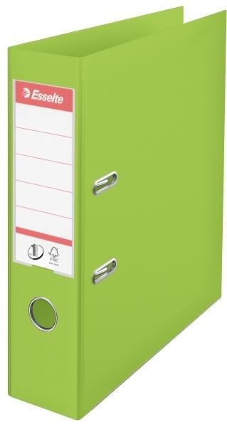 Biblioraft A4  Plastifiat Pp/pp  Margine Metalica  75 Mm  Esselte No. 1 Power - Verde Vivida