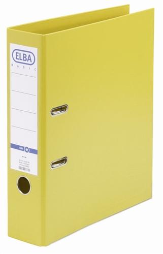 Biblioraft A4  Plastifiat Pp/pp  Margine Metalica  80 Mm  Elba Smart Pro+ - Galben
