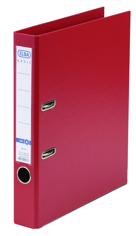 Biblioraft A4  Plastifiat Pp/pp  Margine Metalica  50 Mm  Elba Smart Pro+ - Rosu