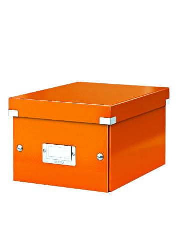 Cutie Arhivare 216 X 160 X 282 Mm  Leitz Click and Store  Carton Laminat - Portocaliu