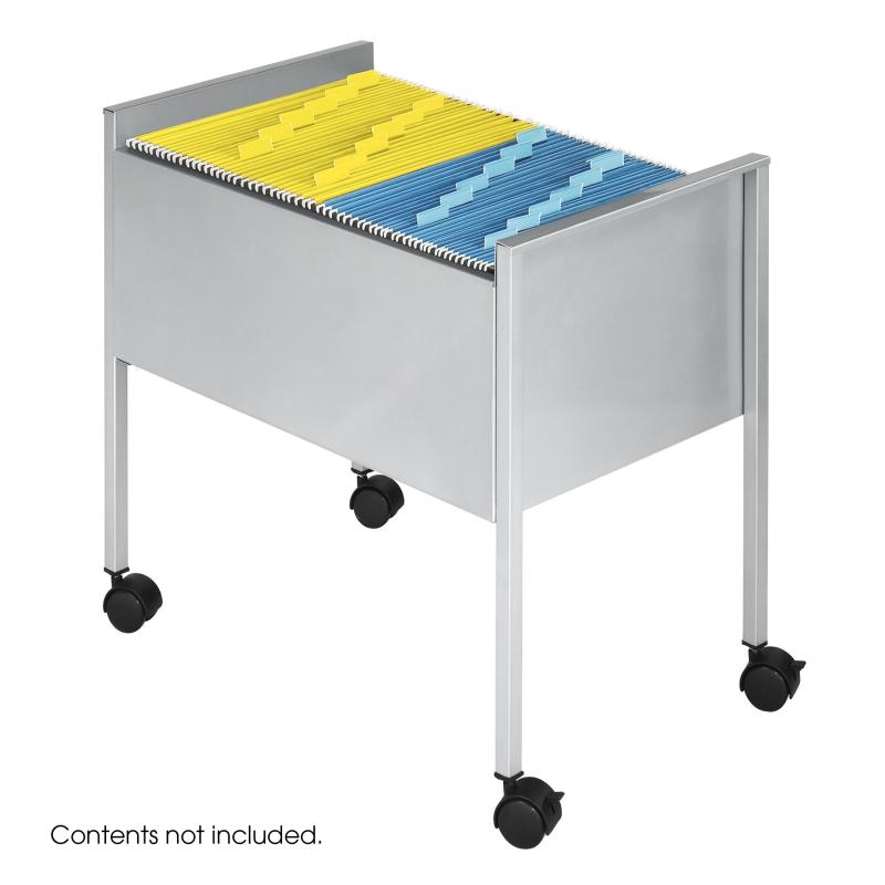 Suport Metalic Mobil Pentru 80 Dosare Suspendabile A4  Safco - Argintiu
