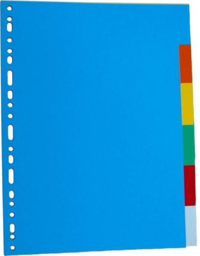 Separatoare Carton Color  A4  180g/mp  6 Culori/set  Optima