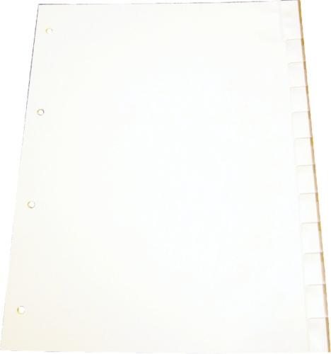 Separatoare Plastic Gri Personalizabil  A4  125 Microni  20 File/set  Optima