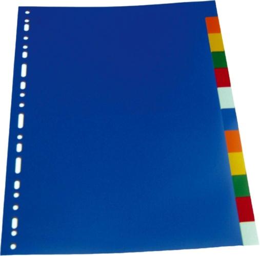 Separatoare Plastic Color  A4  120 Microni  12 Culori/set  Optima