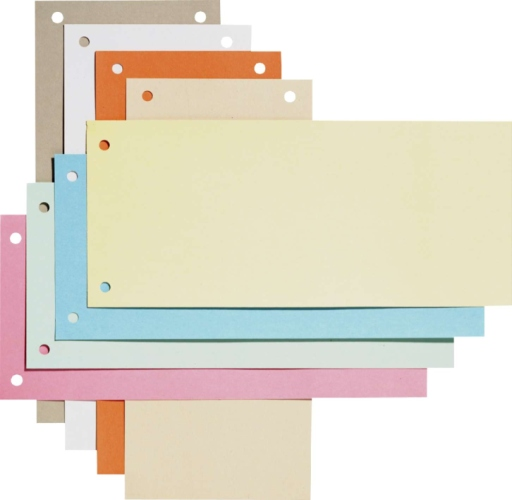 Separatoare Carton Pentru Biblioraft  190g/mp  105 X 240 Mm  100/set  Elba - Rosu