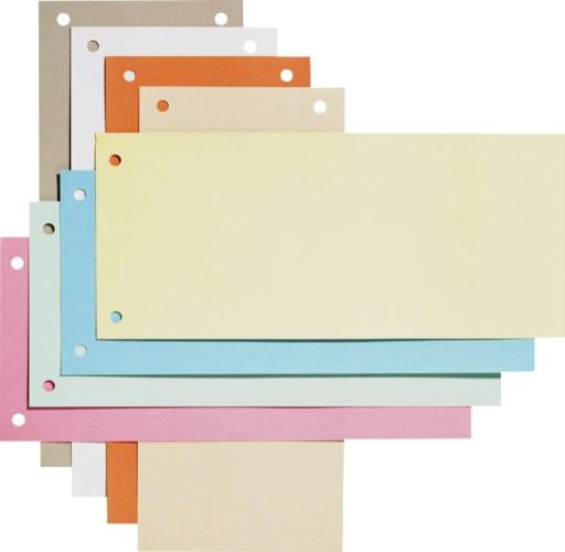 Separatoare Carton Pentru Biblioraft  190g/mp  105 X 240 Mm  100/set  Elba - Albastru