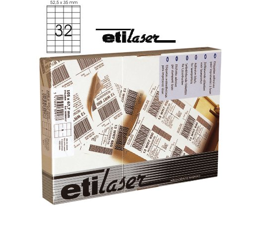 Etichete Autoadezive 32/a4  52 5 X 35 Mm  200 Coli/top  Etilaser - Albe