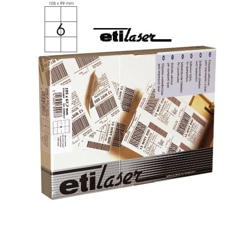 Etichete Autoadezive 6/a4  105 X 99 Mm  200 Coli/top  Etilaser - Albe