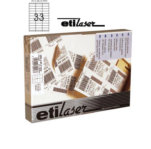 Etichete Autoadezive 33/a4  70 X 25 4 Mm  200 Coli/top  Etilaser - Albe