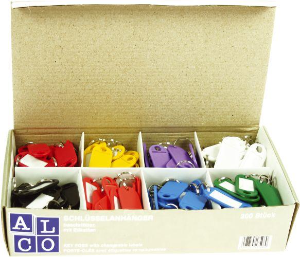 Etichete Pentru Chei  200/cutie  Alco - Culori Asortate