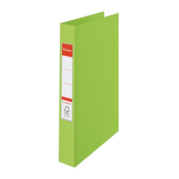 Caiet Mecanic A4  Plastifiat Pp  2 Inele - D25mm  Esselte Standard - Verde Vivida