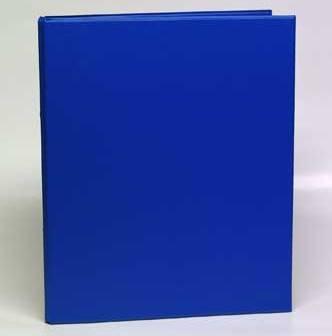 Caiet Mecanic 2 Inele - D25mm  Coperti Carton Plastifiat Pvc  A4  Aurora - Albastru