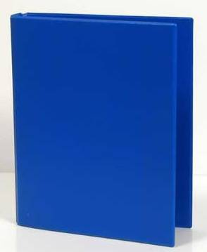 Caiet Mecanic 2 Inele - D25mm  Coperti Carton Plastifiat Pvc  A5  Aurora - Albastru