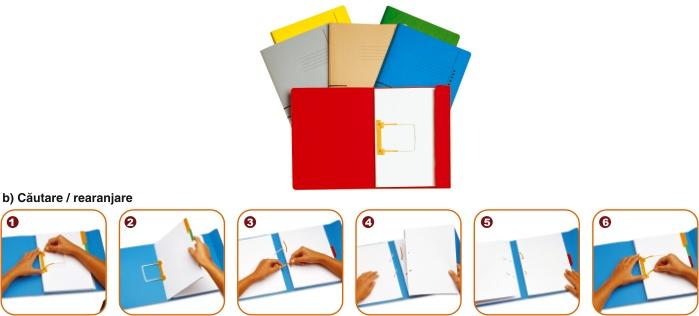 Dosar Carton Color Cu Alonja Arhivare De Mare Capacitate  Jalema Secolor - Rosu