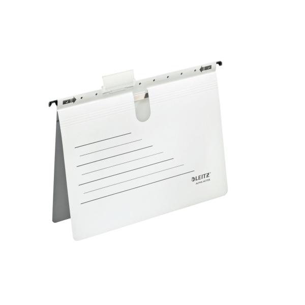 Dosar Suspendabil A4  Carton 225g/mp  5 Buc/set  Leitz Alpha Active - Alb