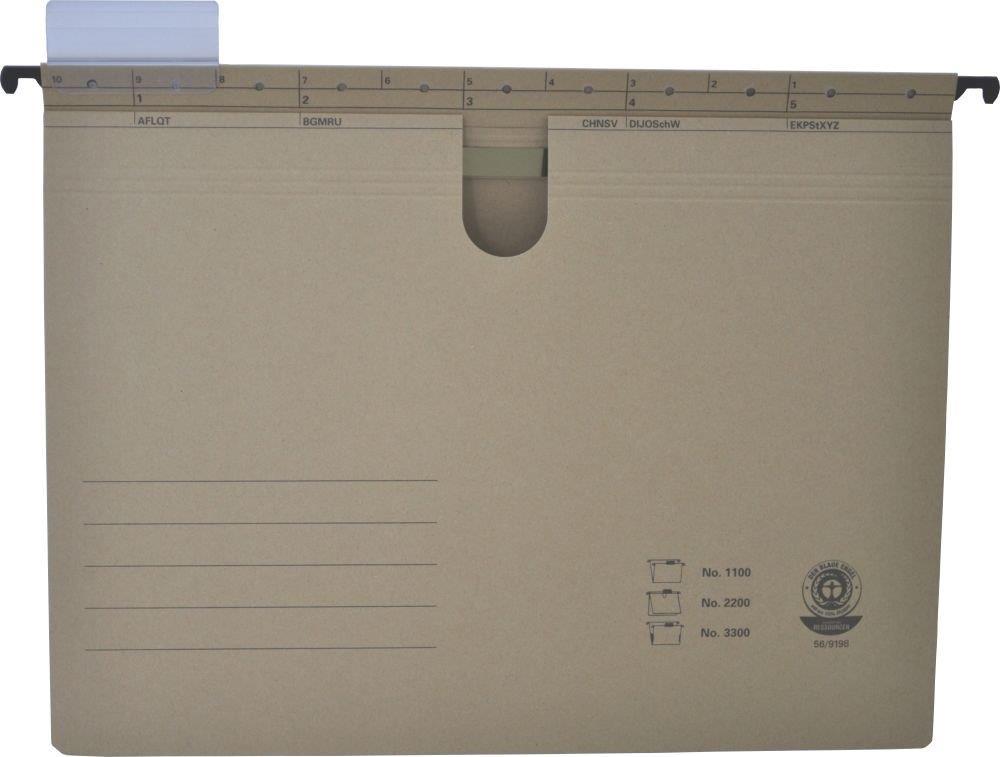 Dosar Suspendabil Cu Burduf Si Eticheta   Bagheta Metalica  Elba 3300 - Kraft