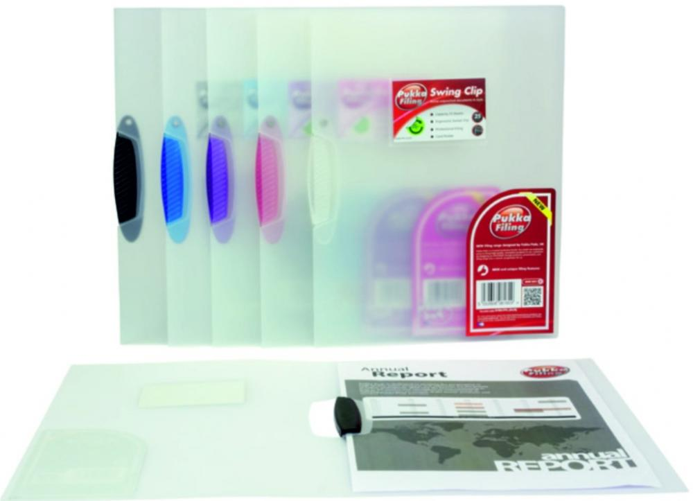 Dosar Din Plastic Transparent  Cu Clema Pivotanta  Pukka - Clema Transparenta