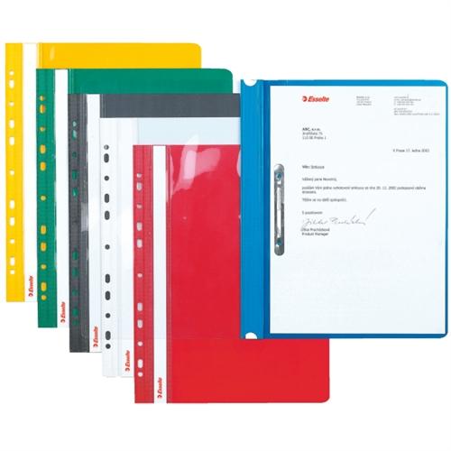 Dosar Plastic Pvc  Cu Sina Si Multiperforatii  10 Buc/set  Esselte - Verde