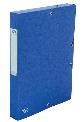Mapa Carton 600g/mp  Cu Elastic  40mm Latime  Elba Eurofolio - Albastru
