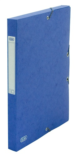 Mapa Carton 600g/mp  Cu Elastic  25mm Latime  Elba Eurofolio - Albastru
