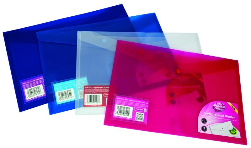 Mapa Protectie Documente  Folio Landscape  Cu 2 Buzunare Si Capsa  5/set  Pukka - Transparent Mat
